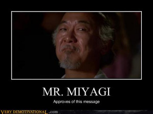 In the directors cut of Karate Kid after Daniel son learnt how to ...