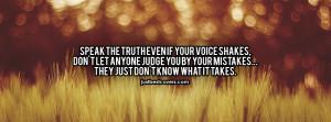Speak The Truth Quotes Facebook Cover Photo