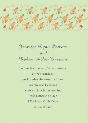 The glamorous pics below, is section of Wedding Invitation Message to ...