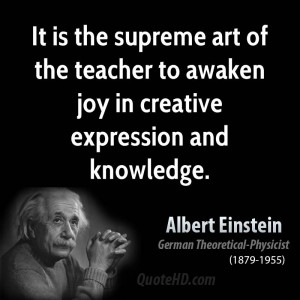 The Supreme Art Teacher...