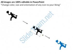 growing towards the target man climbing stairs to bulls eye ppt slides ...