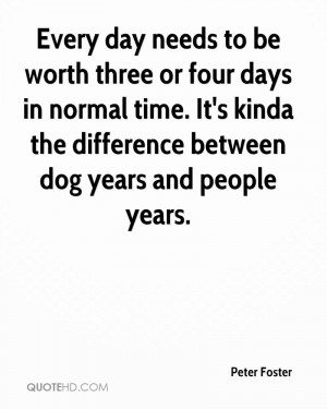 ... Days In Normal Time. It's Kinda The Difference Between Dog Years And