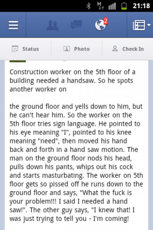 Construction worker joke
