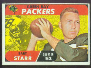 fb 1 bart starr packers football card price 29 95 ex mint to ex ex+ ...
