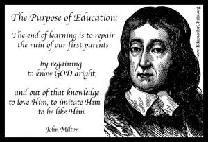 John Milton on the Purpose of Education