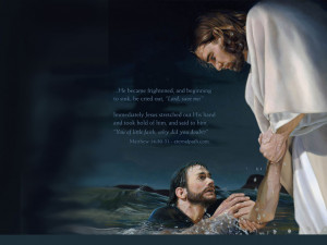Christ saving in water a person lost faith prayed for help lord saved ...