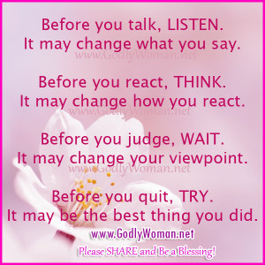 Godly Woman Quotes Before you quit try