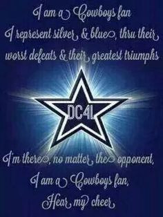 ... then you can't be with us at our best ! dallas cowboys, dalla cowboy