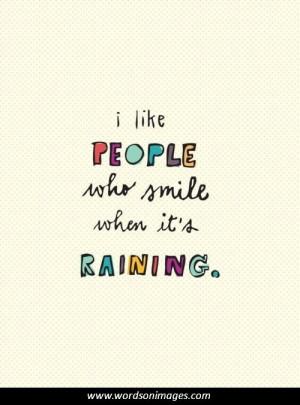 Happy Quotes About Rainy Days