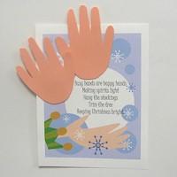 Handprint Christmas Poem Craft