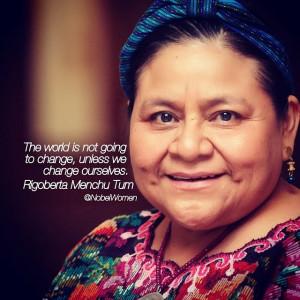 ... receiving the peace prize rigoberta established the rigoberta menchú