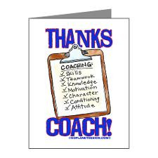 Thanks Coach Clipboard Note Cards (Pk of 10) for