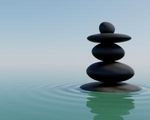 3D Balancing Zen Stones wallpaper