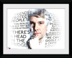 Sherlock Watson Quotes Framed Collector Print