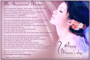 The Empowered Woman - Happy Women's Day march 8