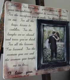 Personalized Frame Mother of the Bride and by DellaLucilleDesigns, $55 ...