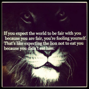 Don't expect fairness even if you are fair.