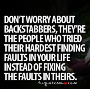 Backstabbing Quotes Backstabbing haters quote. via darlida c