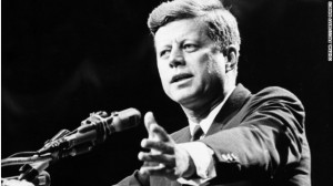 President John F. Kennedy, shown in 1962, was a champion of rights and ...