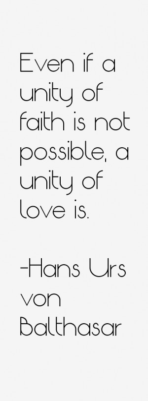 Hans Urs von Balthasar Quotes amp Sayings