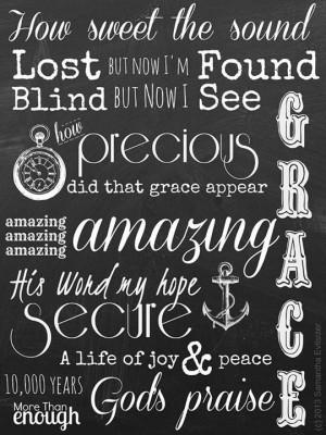 Amazing Grace #lyrics #quotes #AmazingGrace