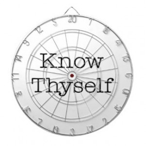Know Thyself Quotes Inspirational Identity Quote Dart Boards