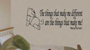 WINNIE THE POOH bear quote, wall art, boy / girl bedroom sticker ...