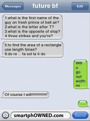 boyfriend, funny texts