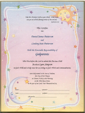 How Get Godparent Certificate Ehow Pictures