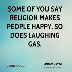 Clarence Darrow Religion Quotes