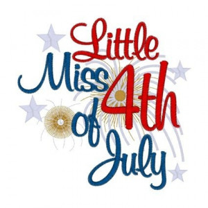 Little Miss 4th of July iron on transfer