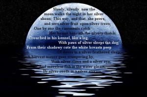 quot Silver quot by Walter de la Mare picture from astrobilal co cc