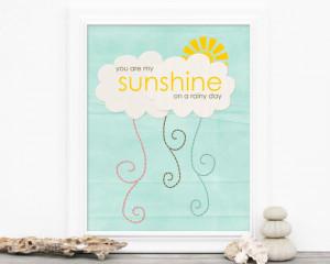You are my sunshine on a rainy day via Hurray Kimmay