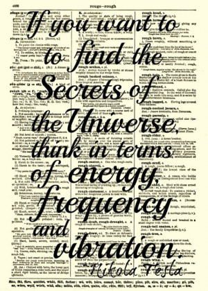 Nikola Tesla Quotes Vibration