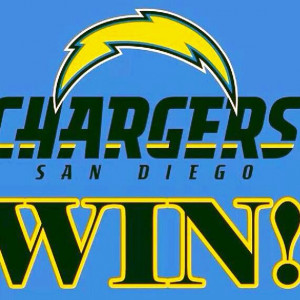Chargers Win! My new favorite team since Bears are out of it!
