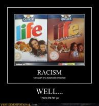 Racism In Your Breakfast Funny Evolution Picture >