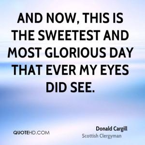Donald Cargill Inspirational Quotes