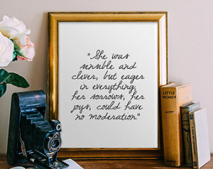 Jane Austen Quote Printable, Inspir ational quotes art print poster ...