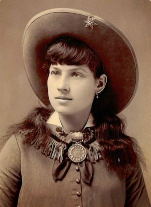 Annie Oakley (1860-1926) played by Gail Davis (Gail was really kinda ...