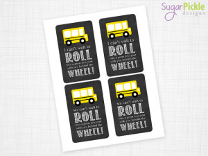 Bus Driver Appreciation Gift Tag, Bus Driver Gift Tag, Thank you Bus ...