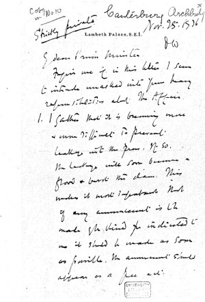 Uncovered: Archbishop Lang's 'smoking gun' secret letter to the Prime ...