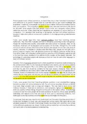 immigration critical reading critical reading article with questions ...