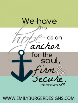 Bible Quote from Hebrews 6:19
