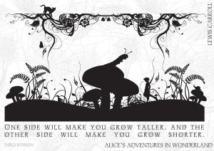 ... black and white illustrated quote by farquharson frame scoop black