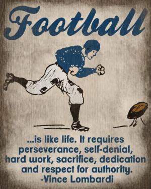 ... Football Art Print - Kids Basketball Room Decor - Vince Lombardi Quote