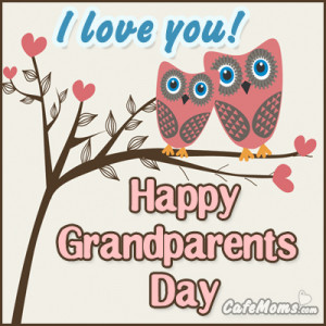 Happy Grandparents Day I Love You Facebook Graphic