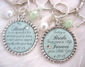 MOTHER of the BRIDE Gift for Mother In Law MIL Gift Green Wedding date ...