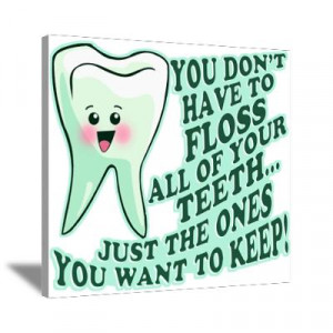 Cafepress Wall Art Canvas Funny Dentist Quote