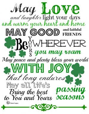 Irish Quote Love & Laughter