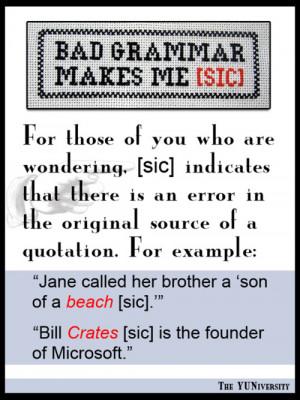 Bad Grammar Quotes Image